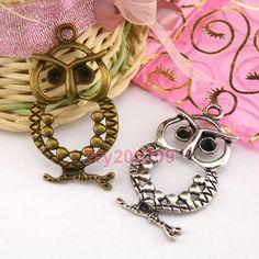 20Pcs-Tibetan-Silver-Bronze-Owl-Animal-Charms-Pendants-Jewerly-DIY-M1316 (8.35E)