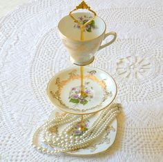 3 tier tea cup and plates for my mom!
