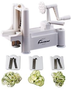 iPerfect Tri-Blade Vegetable Spiralizer Envy Spiral Slicer - Zucchini Spaghetti Pasta Maker