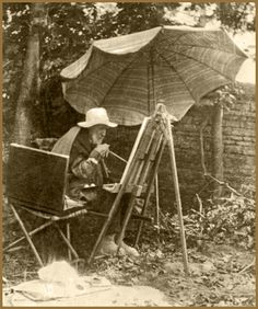 Renoir painting when he was old.