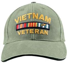 89953f78ef1 Vietnam Veteran Baseball Cap Olive Drab OD Green Military Hat with Wreath  Navy Marine