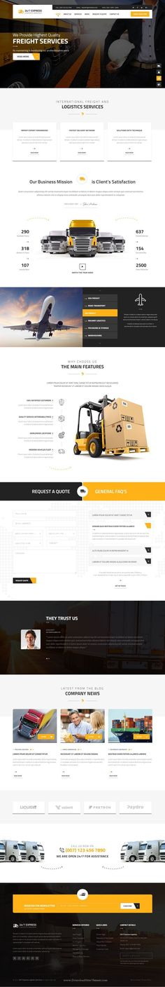 24/7 Express Cargo Services is a Multipurpose #Bootstrap HTML suitable for cargo, #logistics, trucking, transportation companies, warehouse and freight business #website.