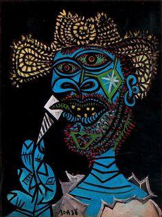 Pablo Picasso - Homme au chapeau de paille et au cornet de glace 1938