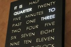 Numbers are for nerds.  At least, that is what I always told my math teacher.  Mount this clock in the middle of a wall makes a clear, vivid statement which will be the centerpiece of your room.  Alternately, place it on a table, mounted in an easel and it provides a more functional, subtle timepiece.