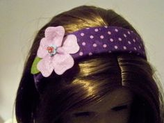 Making American Girl Doll headbands!  Blog post has a link for finding inexpensive blanks.  Super easy project.  #WithGlitteringEyes