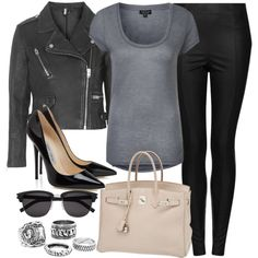 Style #9388 by vany-alvarado on Polyvore featuring moda, Topshop, Hermès and Yves Saint Laurent