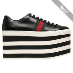 Gucci Women 140mm Peggy Leather Sneakers
