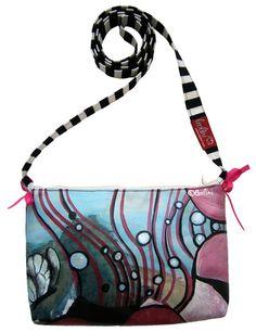 kleine HANDBEMALTE Leolini-Handtasche 'Pink Mix' - ein Designerstück von leolini-taschen  www.leolini.com