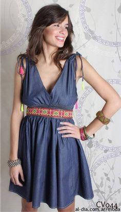 Vestidos de jeans primavera verano 2014 by Omm Purpura