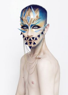 Ryan Burke is a New York-based photographer and make-up artist whose work ranges from freelancing for various clients to portraiture of himself and other. Eye Makeup, Drag Makeup, Makeup Man, Extreme Makeup, Fantasy Make Up, Make Up Art, Man Make Up, Special Effects Makeup, Maquillage Halloween