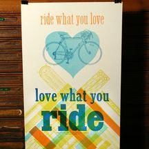 Ride lo que usted ama Impresiones de Dique 2 Letterpress