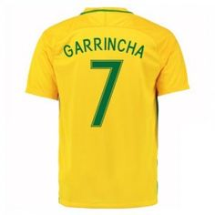 2016 Brazil Soccer Team Garrincha 7 Home Replica Jersey [D981]