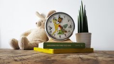 Vintage French BAYARD alarm clock BAMBI /Kids clock/Kids room decor/ RETRO Clock / French decor/ Retro decor de la boutique PetitesChosesDeLaVie sur Etsy