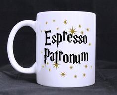 espresso patronum harry potter mug cup two side by CatchyThingz, $15.99