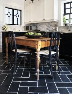 """Cheap But Special Tile Flooring: Cut 12"""" Tiles in Half"""