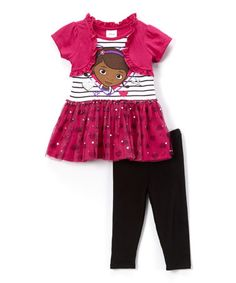 Look what I found on #zulily! Pink Doc McStuffins Tunic & Leggings - Toddler #zulilyfinds