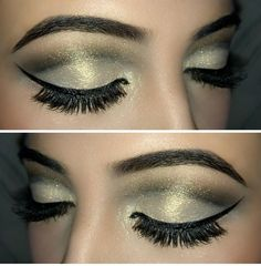 Love this glitter cut crease eye makeup!  Could you use this look?