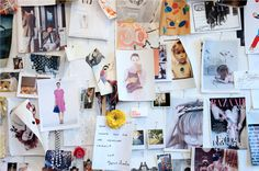 JCrew | 770 Behind The Line love the inspiration board-could also be an art work board