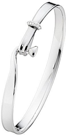 Georg Jensen Torun 18ct white-gold, sterling silver and diamond bangle on shopstyle.com