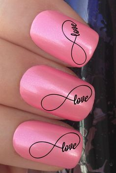 LOVE INFINITY SIGN SYMBOL WATER TRANSFER DECALS STICKERS #nails #nailart #nailartstickers