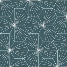 "Spark C Agean 8 x 8"" Cement Field Tile in Blue/White"