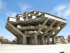 USC Geisel Library, in San Diego, CA - Brutalist Architecture.