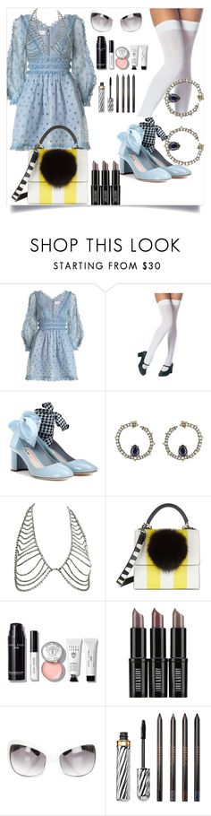 """Untitled #131"" by dido-c ❤ liked on Polyvore featuring Zimmermann, Miu Miu, Alexis Bittar, Les Petits Joueurs, Bobbi Brown Cosmetics, Lord & Berry, Kate Spade and Borghese"