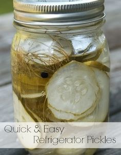 Quick & Easy Refrigerator Pickles via HotCouponWorld.com