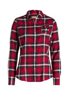 In unvergleichlich weicher Baumwoll-Qualität schmiegt sich diese Bluse sanft an den Körper an, während das klassische Karo-Design für stilvolle Freizeit-Looks sorgt.
