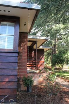 Rain chains and rain gutters to fit mid-century ranch house style