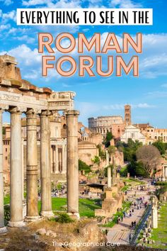 Guide to the Monuments of the Roman Forum: the Epicenter of Ancient Rome Travel Advice, Travel Guides, Museum Guide, Italy Travel, Travel Europe, Roman Forum, Ancient Rome, Travel Aesthetic, Rome Italy