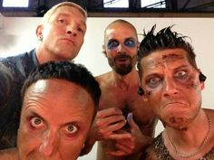 Very rare shot of Oli mugging for the camera #rammstein Frau Schneider Facebook page