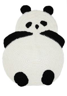 panda rug. i can't wait to have babies just so i have an excuse to purchase things like this.