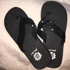 fbc62070c Of course I have to take my trusty yellowbox flip flops!! Black Sequins