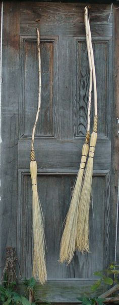 Object Lessons: The Autumnal Broom - Remodelista Brooms And Brushes, Witch Cottage, Witch Broom, Broom Corn, The Worst Witch, Work Horses, Object Lessons, Cauldron, Holidays Halloween