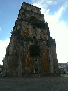 Sinking bell tower Ilocos, Mount Rushmore, Ph, Tower, Mountains, Building, Nature, Travel, Rook
