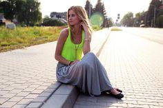 Shop this look on Kaleidoscope (top, skirt, flats, necklace)  http://kalei.do/WBFcgPw23lrQRQwm