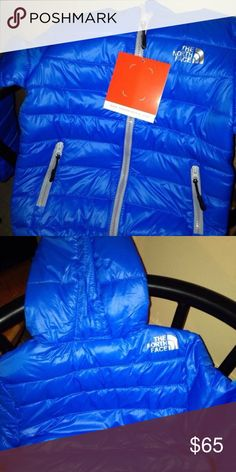 Blue kids North Face coat ages 4-5 Good price even if ur kids are too young but it and sit on it brand new. Limited time price 2 days left get it while you can same with orange one North Face Jackets & Coats