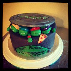 Anthony's ninja turtle birthday cake!