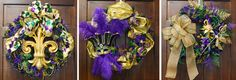 Mardi Gras Wreath Ideas