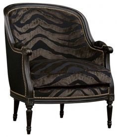 zebra velvet chair, I not a huge fan of animal print but this I could see cuddling up with a book.
