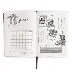 June monthly log  by my_journaling_corner