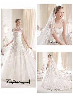 Alluring Tulle & Satin Sweetheart Neckline Natural Waistline A-line Wedding Dress http://www.ckdress.com/alluring-tulle-satin-sweetheart-neckline-natural-waistline-aline-wedding-dress-p-1543.html  #wedding #dresses #party #Luckyweddinggown #Luckywedding #design #style #weddingdresses #bridaldresses #love #me #cute #beautiful #girl #shopping #lovely #clothes #instagood #follow #fashion