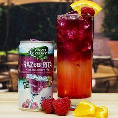 Raz-Ber-Rita Sunset Ingredients: 4-6 oz Bud Light Lime Raz-Ber-Rita 2 oz Orange Juice 1/4 oz Grenadine [[MORE]] Garnish: 1/4 Orange Wheel Ra...