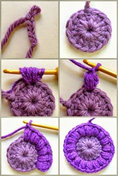 AnnieColors: Sunburst Granny Square Pattern: Best Picture For Crochet hairstyles For Your Taste You are looking for something, and it is going to tell you. Beau Crochet, Mode Crochet, Crochet Diy, Crochet Amigurumi, Crochet Crafts, Crochet Hooks, Crochet Projects, Crochet Buttons, Crochet Things