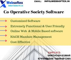 Co operative society  is common in all the countries,almost one of universal concept.According to business need, software features are customized with well format reports, latest technologies like SMS alert integration, payment through online, multi branch, multi user, transaction update etc are the best part of this software.Software provides both Web and mobile based application. #creditcooperativesoftwarecompany #cooperativesocietysoftwareapplication #cooperativesocietysoftwaretechnology Saving Bank Account, Banking Software, Core Banking, Trial Balance, General Ledger, Software Support, Financial Statement, Online Web