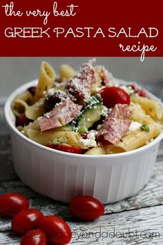 Make this greek pasta salad recipe ! It's so easy, but taste wonderful!  https://www.djs.durban