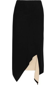 DKNY - Reversible Asymmetric Jersey Skirt - Black - x small