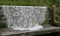 Hand crocheted decorative throw
