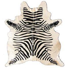 \♥/♥\♥/ Stenciled Zebra Cowhide : Live Like You